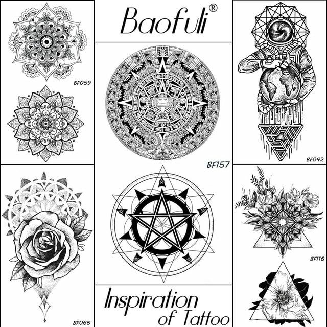 Aliexpress Com Buy Baofuli Black Temporary God Totems Tattoo