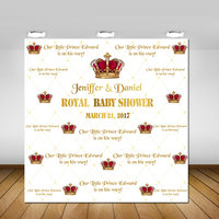custom royal red and gold little prince backgrounds High quality Computer print party backdrops