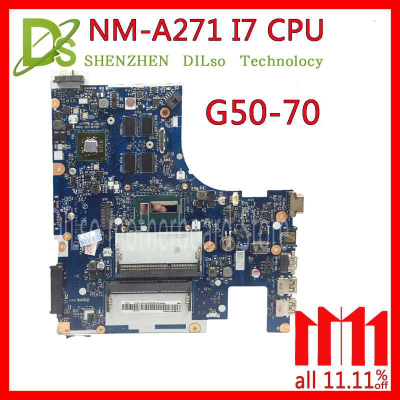 KEFU G50-70 For Lenovo G50-70 Z50-70 i7 motherboard ACLU1/ACLU2 NM-A271 Rev1.0 with graphics card Test laptop motherboard compatible for lenovo g50 70 aclu1 aclu2 nm a271 sr170 i5 4200u ddr3