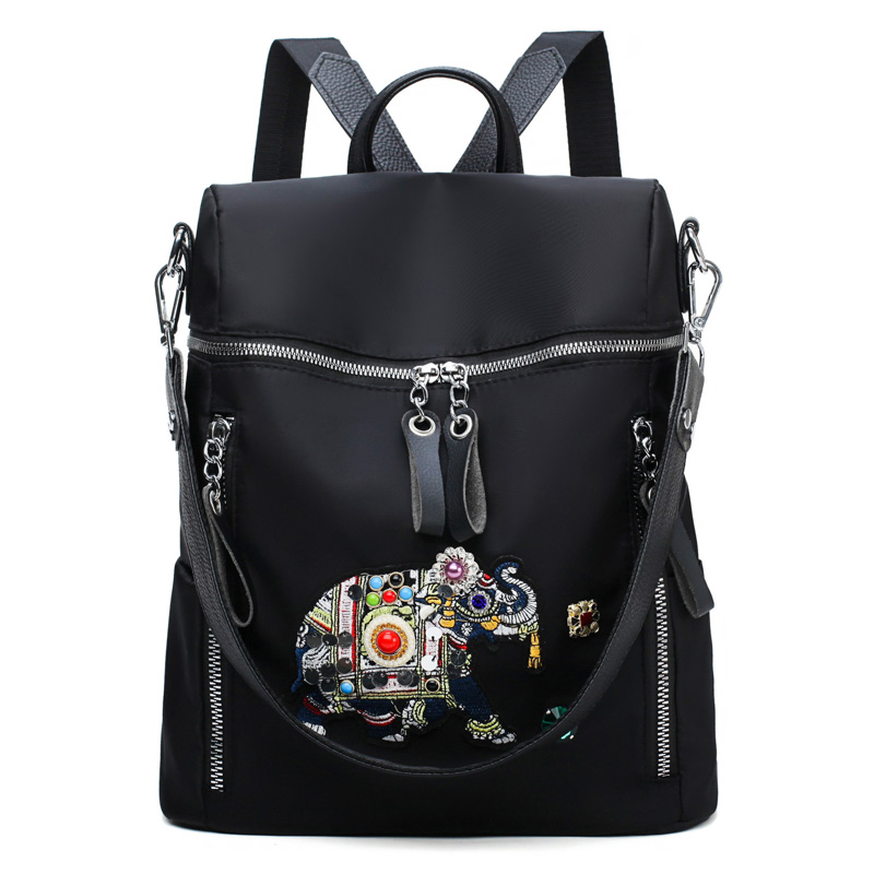 High Quality Elephant Prints Female Shoulder Bags Fashion National Colourful Print Backpacks Teenager Backpacks For School Girls