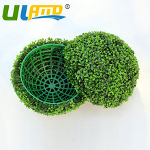 Artificial Boxwood Ball 28cm Diameter Grass Topiary Kissing Ball Plastic Garden Decoration