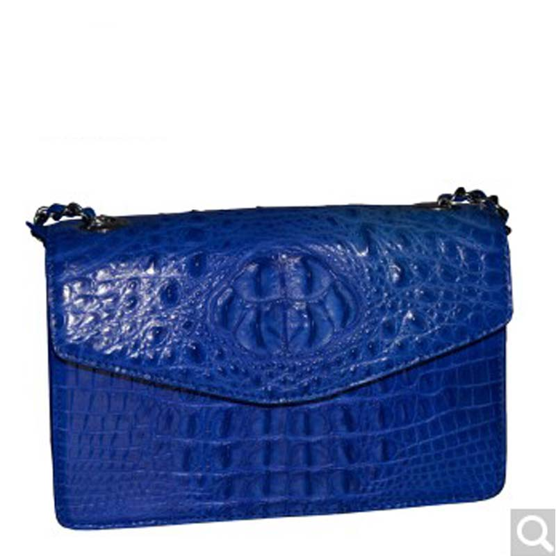 Pulafu new lady's bag alligator crocodile leather single shoulder bag alligator bag lady small side package black lipt 2018 mini package bag chain bag small package of the new spring and summer leisure package free shipping