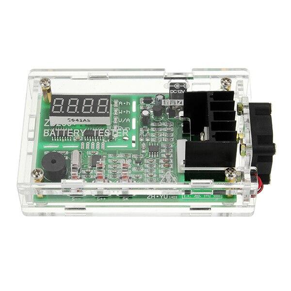 ZB206 12 В Multi-Функция Батарея Ёмкость внутреннее сопротивление тестер 18650 Батарея тестер с оболочкой вентилятор красный цифровой трубка