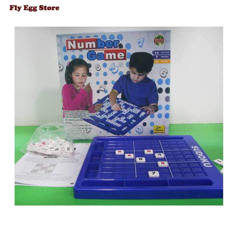 Toys for children juguetes educativos puzzles for children Adult Desktop Game Memory Chess blue Sudoku Puzzle Game Board Toys five in one uniting chess wood multifunction checkers backgammon exercise children thinking family board game kids birthday gift
