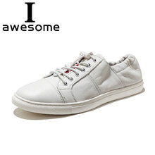 Genuine Leather Luxury Brand Hot Sales Casual Shoes For Men Fashion Breathable Male Sneakers Flat Moccasins 0417