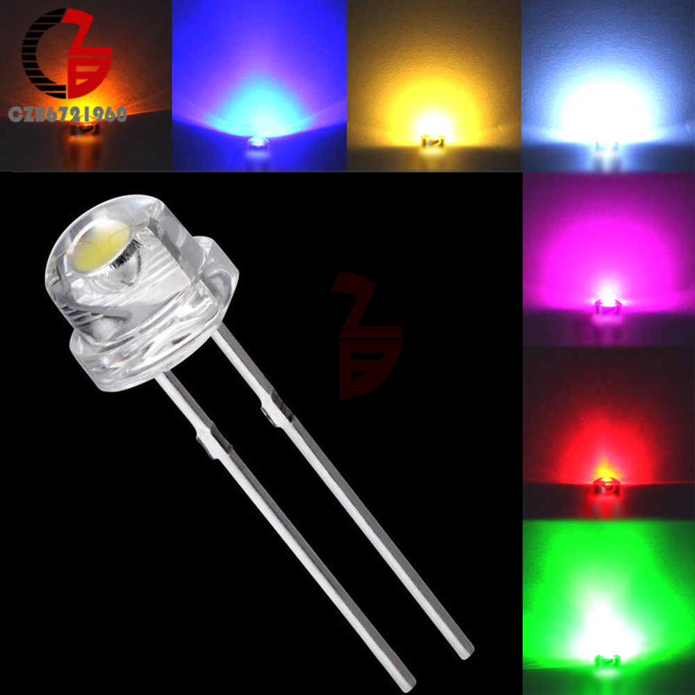 100Pcs 5mm Diode Straw Hat White Red Green Blue Yellow Purple Smd Smt Led Clear Super Bright Wide Angle Bulb 20000mcd Lamp100Pcs 5mm Diode Straw Hat White Red Green Blue Yellow Purple Smd Smt Led Clear Super Bright Wide Angle Bulb 20000mcd Lamp