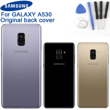 Original Samsung Battery Cover Housing for Galaxy A8 2018 Edition A530N SM-A530N Phone Backshell Back