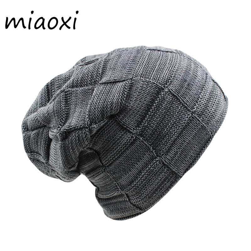 miaoxi High Quality New Men Winter Knit Warm Beanies Skullies Fashion Unisex Women Adult Hat Thick Cap Wool Gorros mx-307