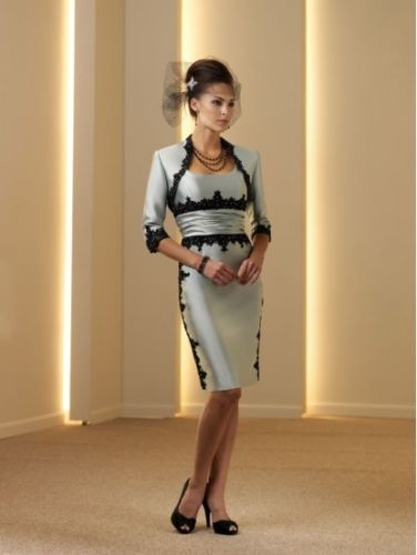 Free Shipping Robe De Soiree 2016 New Hot Gorgeous Vestido De Madrinha Party Appliques Mother Of The Bride Dresses With Jacket