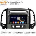 5.1.1 GreenYi Android DVD Do Carro para HYUNDAI SANTA FE 2006 2007 2008 2009 2010 2011 2012 com Espelho Ligação 16 GB Flash Wifi BT Mapa