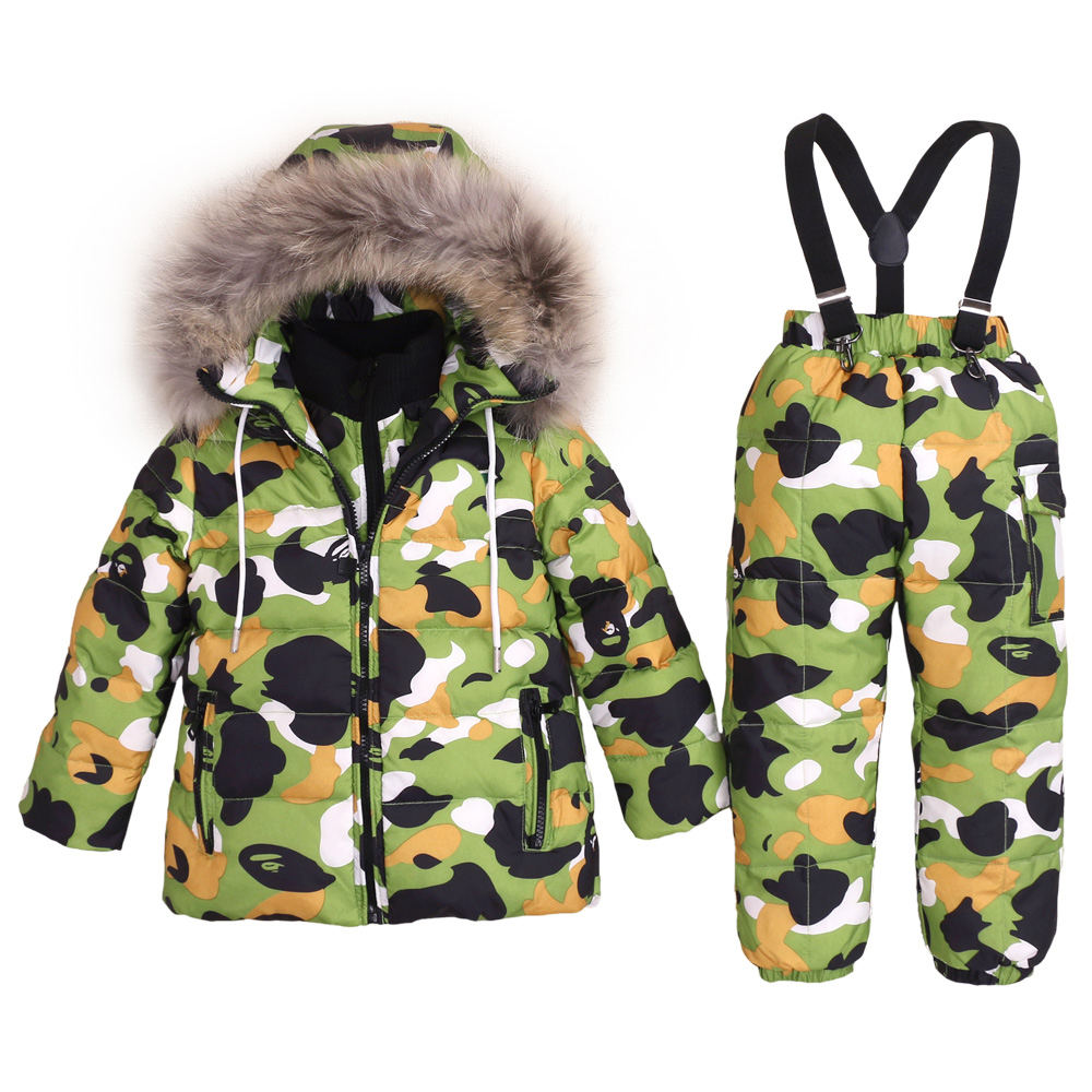2019 New Baby Boys Hoodie Winter Down Jacket Children White Duck Down Thick Snowsuit Russia Winter Warm Clothes Girls Outwear-in Down & Parkas from Mother & Kids    1