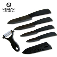Kitchen Ceramic Knife Set 3 4 5 6 Inch Peeler Black Blade Paring Fruit And Vegetable
