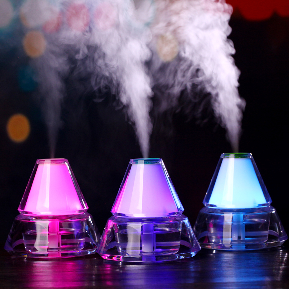 Creative USB Iceberg Air Humidifier Night Light Ultrasonic Desk Humidifiers Mist Maker Mini Household Air Purifier 140ml 5pcs lot 8 130mm replacement cotton swab for air ultrasonic humidifiers mist maker humidifier part replace filters can be cut