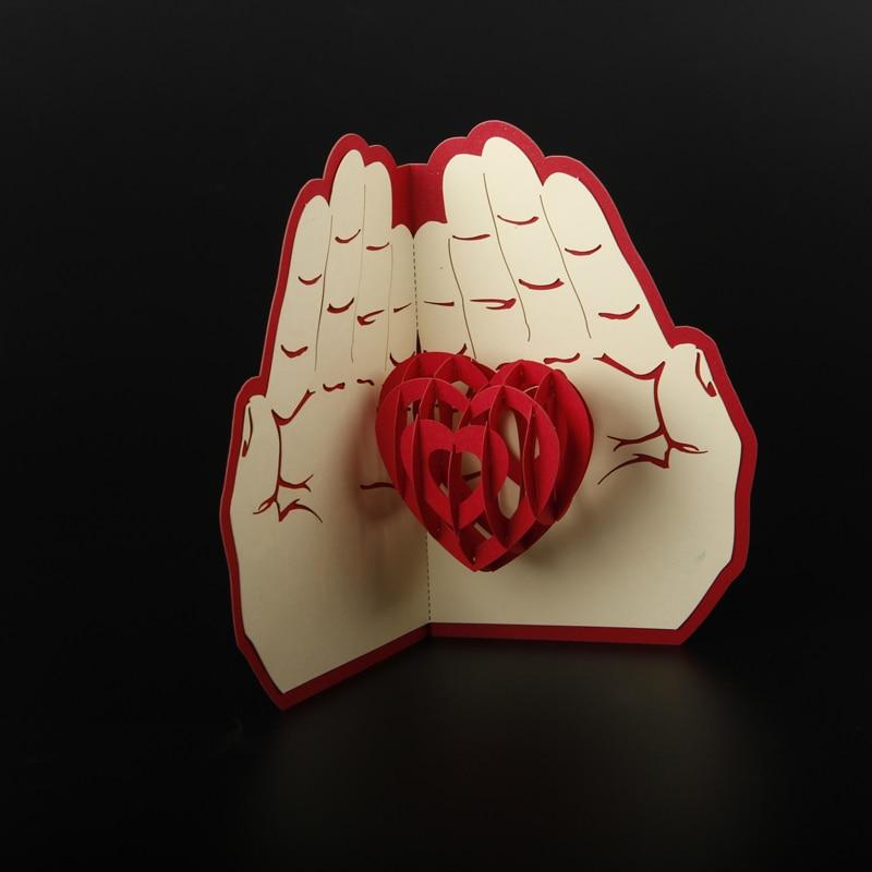 Envío gratis 3D Pop Up tarjeta de felicitación de papel tallado - Para fiestas y celebraciones - foto 4