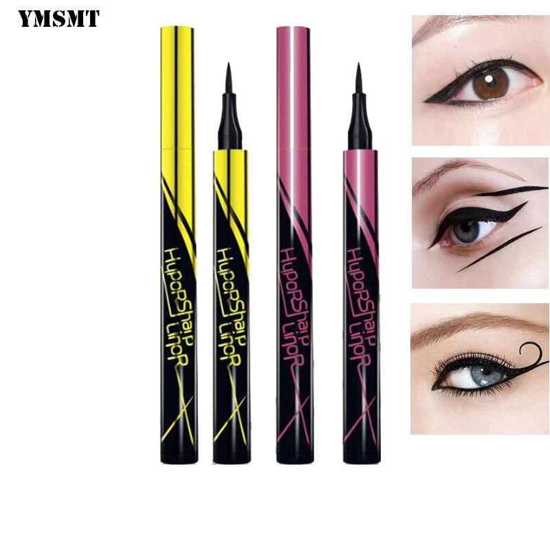 YMSMT Black / Brown Waterproof Eyeliner Small Gold Pencil Rod Resistant Pot Durable Liquid Eyeliner Pencil Makeup Tools