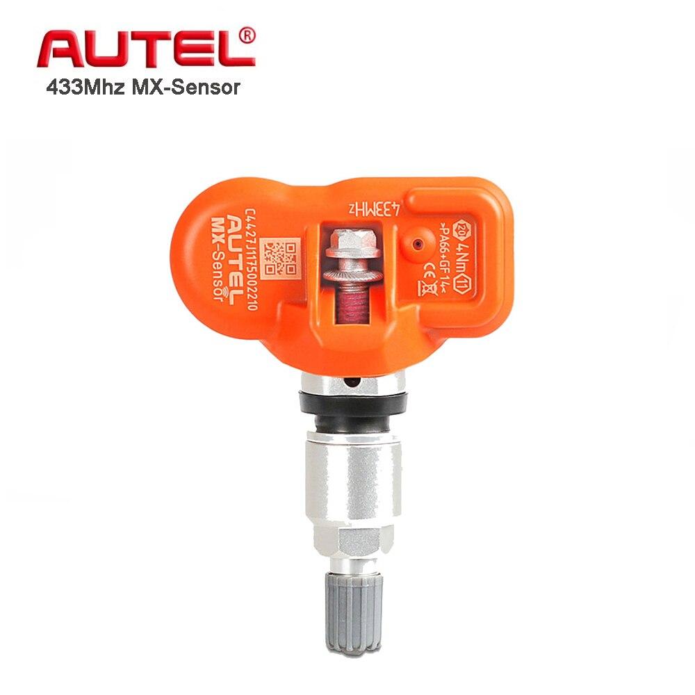 4 pcs Autel Mx Capteur 433 mhz Pneu Capteur de Pression Programmable Réapprendre TPMS de Pression Des Pneus Capteur Cloneable Universel Mx- capteur