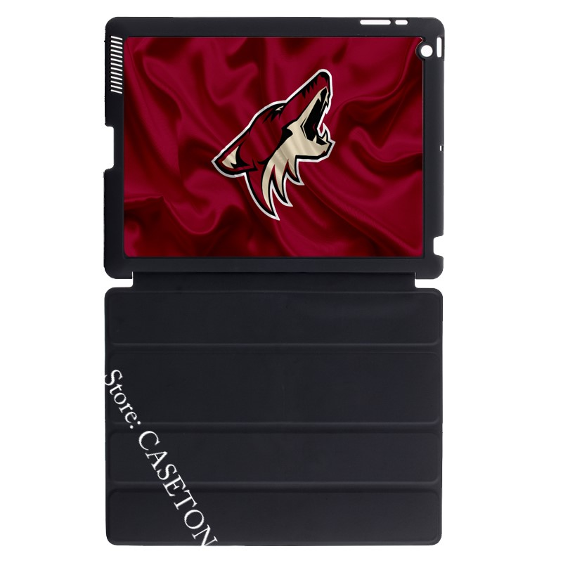 Arizona Coyotes Ice Hockey Fans Cover Case For Apple iPad Mini 1 2 3 4 Air Pro 9.7 10.5 12.9 2017 a1822