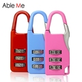 Candy Color Design For Safe Durable Luggage Locks Travel Accessories Fashion Password Lock For Travel Suitcase And Tool Box