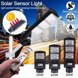 Najgorętsze regulowany 180 LED energii słonecznej ulicy światło na czujnik ruchu u nas państwo lampy ogród lampa bezpieczeństwa na zewnątrz ulicy wodoodporna lampa ścienna
