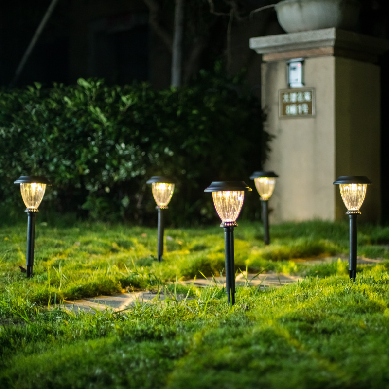 Led Yard Lights For Sale: Hot Sale Outdoor Garden Solar LED Light Solar Powered Warm