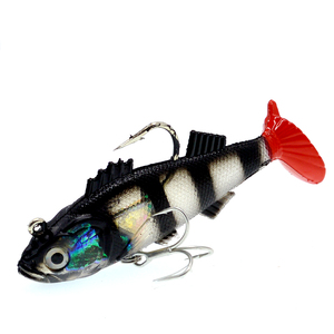 Image 3 - WLDSLURE 1Pcs 11.5cm/37g Artificial Fishing Soft Lures Sharp Hook lead Fishing Lure Lead Head Silicone Bait Fishing Tackle Lure