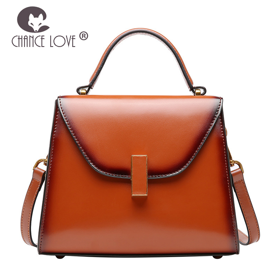 Chance Love 2018 Genuine leather women's handbags shoulder Messenger bag handbag female new retro simple wild ladies Kelly bag цена 2017