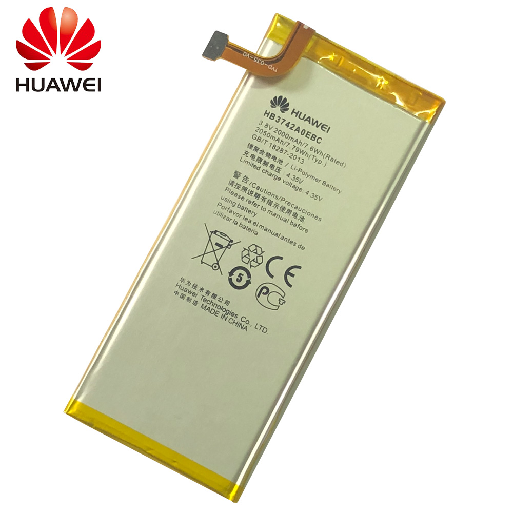 Brand New 3 8V 2000mAh HB3742A0EBC Battery For Huawei Ascend P6 P6 U06 p6 c00 p6 T00 Ascend G6 G620 G621 G620s G630 Bateria in Mobile Phone Batteries from Cellphones Telecommunications