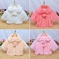 Crianças Meninas De Pele Casaco Casaco Quente Ocasional Outerwear Roupas de bebê Recém-nascido Do Bebê 2 3 Anos