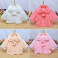 Los niños de los Bebés de Piel Capa Caliente Capa Ocasional prendas de Vestir Exteriores de Ropa de Recién Nacido 2 3 Años