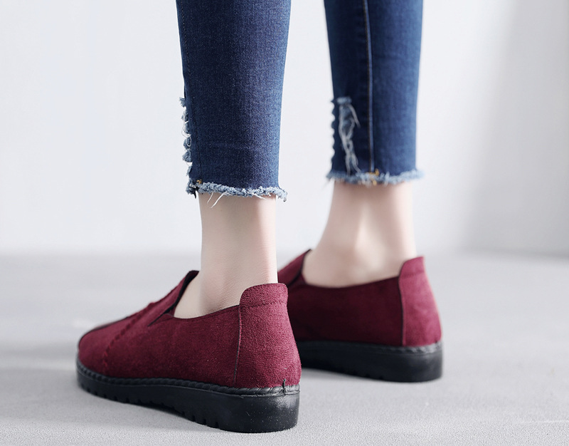 Plus Size Summer Women Flats Fashion Splice Flock Loafers Women Round Toe Slip On Leather Casual Shoes Moccasins New 2019 VT209 (7)