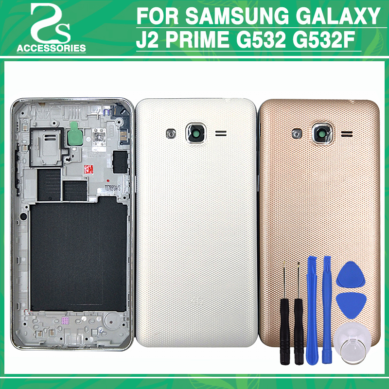 Rear G532 Middle Frame Battery Back Cover For Samsung Galaxy J2 Prime G532 G532F Full Ho ...