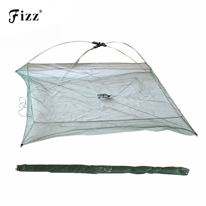 Portable Folding Fishing Net Big Landing Network for Catching Fish Shrimps 60cm*60cm 80cm*80cm 100cm*100cm River Fishing Tackle