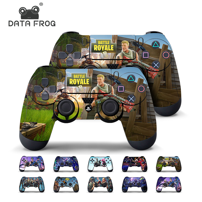 Data Frog 2pcs For Fortress Night Sticker For Sony Playstation4 Game Controller For Ps4 Skin Stickers 11 Styles #1