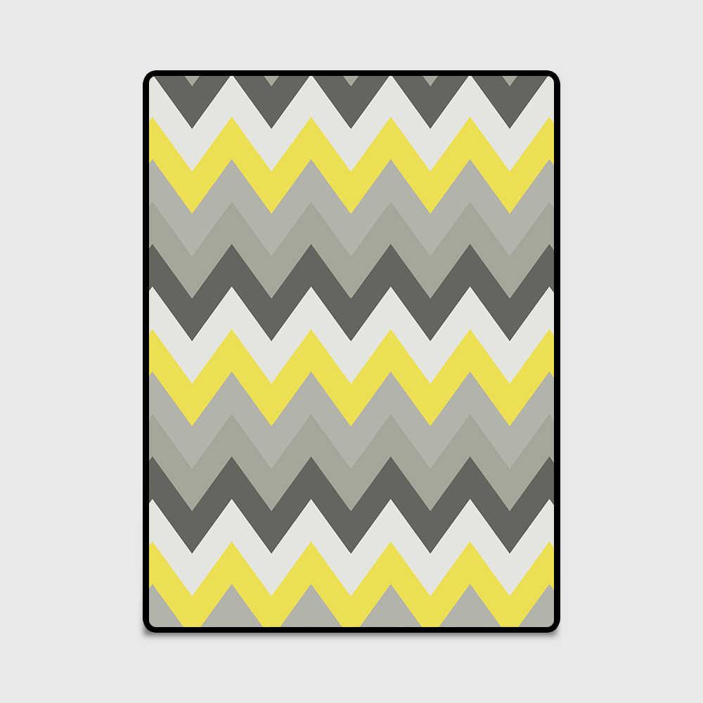 Geometric Yellow Gray Chevron Zigzag