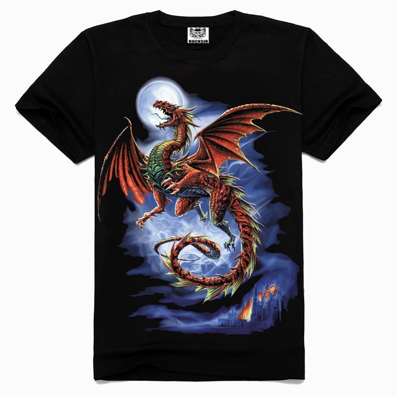 2015 Popular summer Evil dragon tshirt New style cotton men s