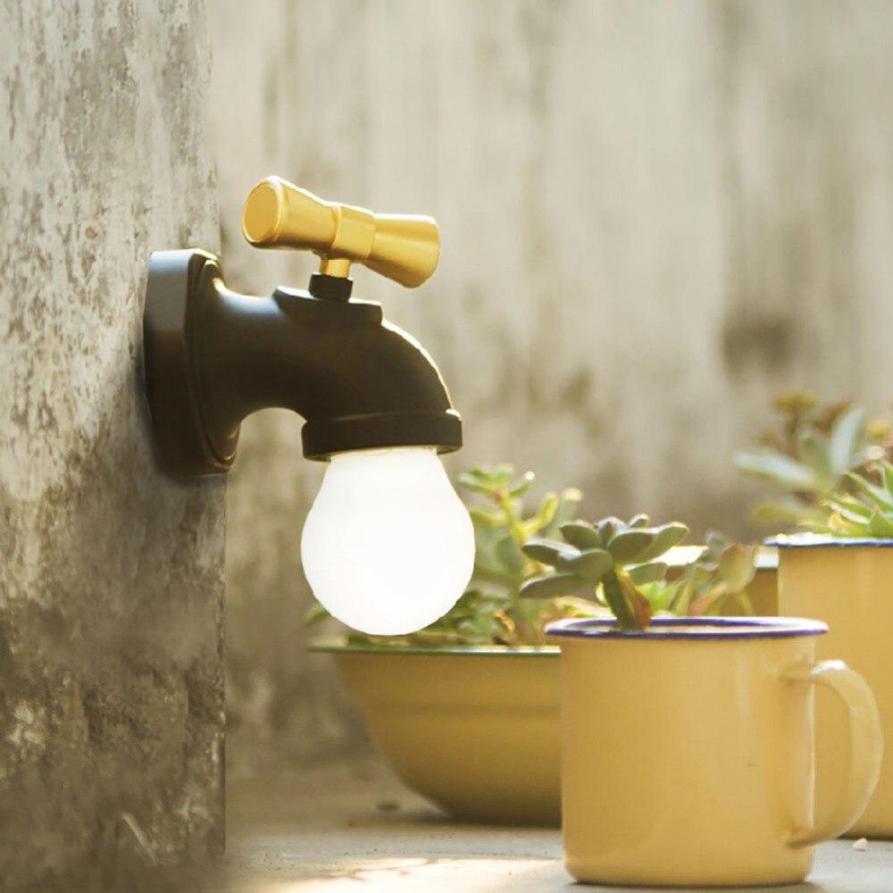 Wasserhahn Beleuchtet retro wasserhahn lampe intelligente sprachsteuerung led akustische