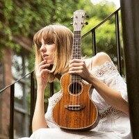 Concert Mahogany Solid Ukulele 23 Inch Ukulele Guitar Mini Acoustic Handcraft PHL Rose Wood Hawaii 4 Strings