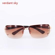 2017Uv400 Luxury Diamond Logo Silver Sunglasses Women Brand Design Gold Frame Gradient Goggle With Box Oculos De Sol Feminino