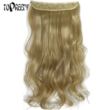 TOPREETY Heat Resistant Synthetic Hair Fiber 120gr Deep Wave 5 clips clip in Hair Extensions 5002 parnali dhar chowdhury and c emdad haque heat wave in canada