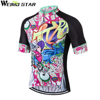 WEIMOSTAR Cycling Jersey Bike Wear Ciclismo Pro Polyester Cycling Clothing Summer Men Quick Dry Bicycle Half Short Sleeve Shirts