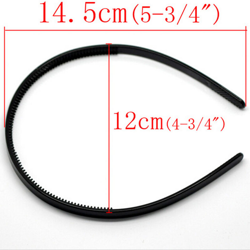Ladies Plastic Hairbands Girls Simple Style Hair Hoops Teeth  Kids Headbands 10PCS 38 cm Long Thickness Headwear Candy Color