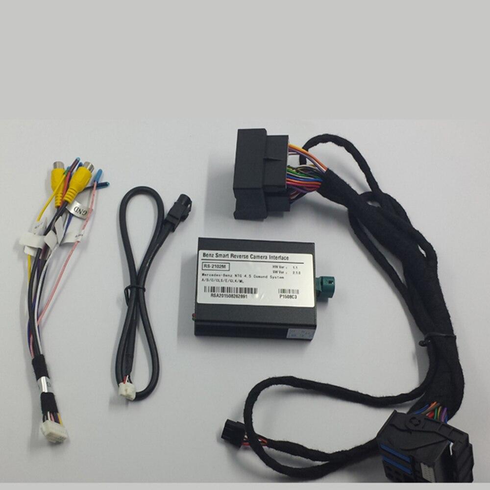 Plug and Play Interfaccia Macchina Fotografica Dell'automobile Per Mercedes CLA220 2014 Comand Online NTG4.5 Audio 20 Con Linee Guida di Parcheggio