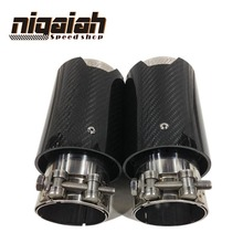 "2PCS Brand New Car Carbon Fiber Exhaust End Tail Tips 2.5"" in, 3.5"" out, free shipping"