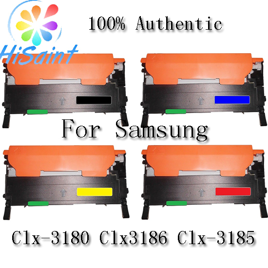[Hisaint] 4pk CLT-K407s KCYM Toner Cartridge Set For Samsung Clx-3180 Clx3186 Clx-3185 [Hot Region Russia USA] powder for samsung mltd 1192 s xil for samsung d1192s els for samsung mlt d119 s els color toner cartridge powder free shipping