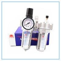 SFC400 1/2 Air Compressor Oil Lubricator Moisture Water Trap Filter Regulator With Mount SFC 400