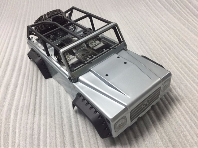 Axial Racing 2012 Jeep Wrangler Unlimited Rubicon Body   .040(Gray)   Body