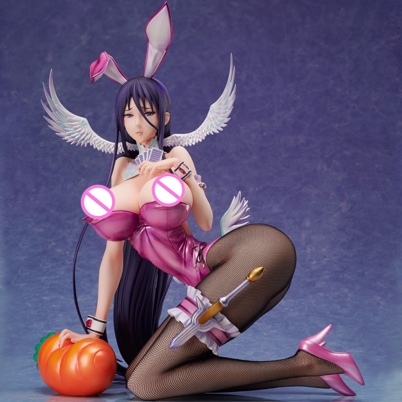 <font><b>1/4</b></font> <font><b>Scale</b></font> Anime <font><b>Sexy</b></font> Bunny Girl Pure white Magical girls Hard Chest PVC 29CM Decor Action <font><b>Figure</b></font> Collectible Model Toy Box D511 image