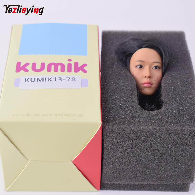 1:6th Scale KUMIK Female Head Sculpt Korean Goddess Jeon Ji Hyun 13-78 For 12 Phicen Hot Toys Action Figure Body Carving Model tbleague phicen pl2018 112 1 6th scale superhero comics the pro pro action figure w flexible body colletible model toys