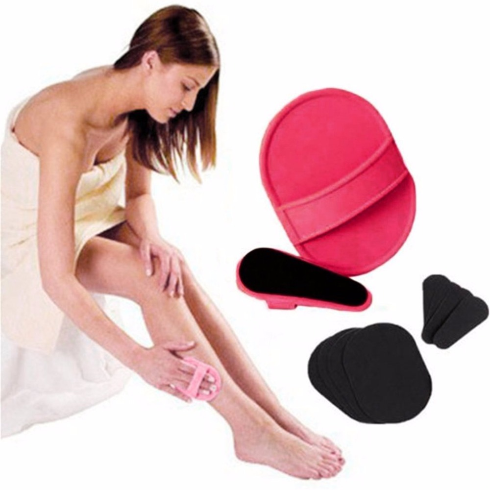 Women Body Facial Unwanted Hair Removal Epilator Depilation Smooth Legs Upper Lip Arm Exfoliator Pads Remover Sanding Device
