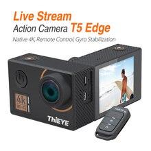 Tieye T5 Edge с живым потоком Cam Real 4 K Ultra HD экшн-камера с стабилизатор гироскопа, дистанционное управление подводная спортивная камера